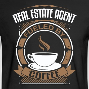 Real Estate Agent Fueled By Coffee - Men's Long Sleeve T-Shirt