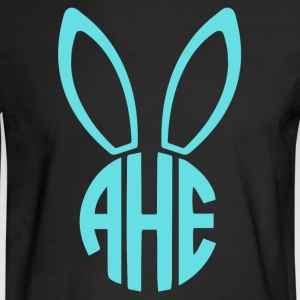 Easter Bunny Monogram - Men's Long Sleeve T-Shirt