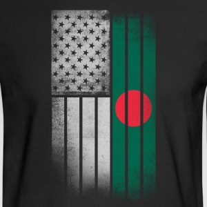 Bangladeshi American Flag - Men's Long Sleeve T-Shirt