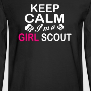 Keep Calm Im A Girl Scout - Men's Long Sleeve T-Shirt