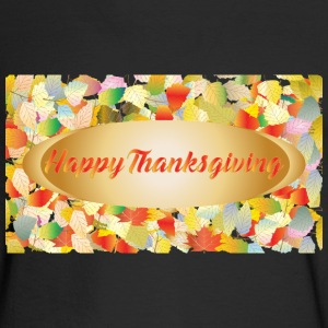 Autumn leaves-Greeting autumn card for Thanksgivin - Men's Long Sleeve T-Shirt