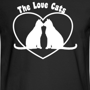 Valentine s Day Love Cats - Men's Long Sleeve T-Shirt