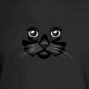 Black Cat Face - Men's Long Sleeve T-Shirt