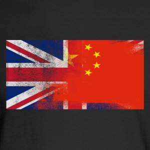 British Chinese Half China Half UK Flag - Men's Long Sleeve T-Shirt