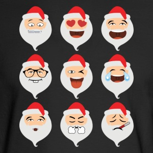 Santa Claus Asian Emojis Christmas Funny TShirt - Men's Long Sleeve T-Shirt