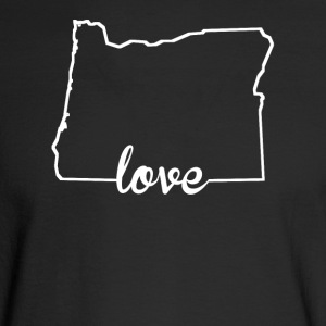 Oregon Love State Outline - Men's Long Sleeve T-Shirt