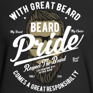 Beard Pride Respect The Beard - Men's Long Sleeve T-Shirt
