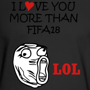 love you more than fifa18 - Men's Long Sleeve T-Shirt