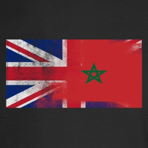 British Moroccan Half Morocco Half UK Flag - Men's Long Sleeve T-Shirt