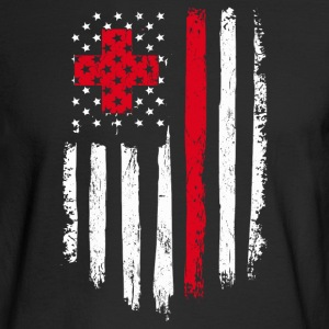 Nurse Gift Distressed American Flag - Men's Long Sleeve T-Shirt