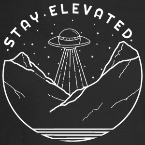Aliens Stay Elevated (White) - Men's Long Sleeve T-Shirt