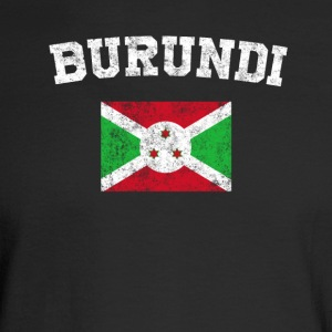 Burundian Flag Shirt - Vintage Burundi T-Shirt - Men's Long Sleeve T-Shirt