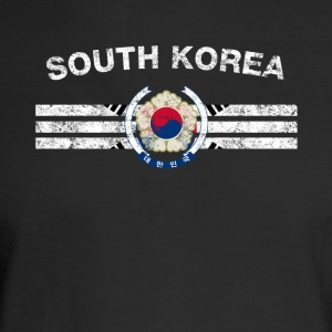 South Korea Flag Shirt - South Korea Emblem & Sout - Men's Long Sleeve T-Shirt