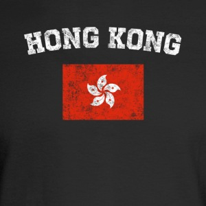 Hong Kong Chinese Flag Shirt - Vintage Hong Kong T - Men's Long Sleeve T-Shirt