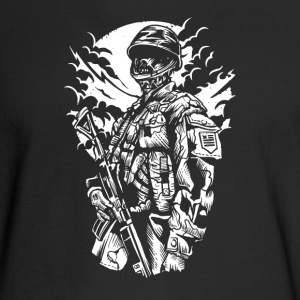Zombie Soldier. Make love instead. - Men's Long Sleeve T-Shirt