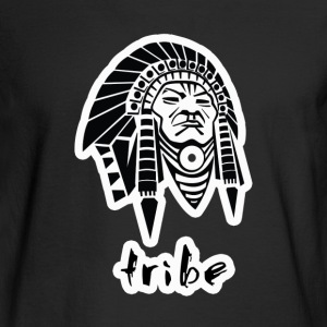 Tribe No. 3 (Native American w/Outline) - Men's Long Sleeve T-Shirt