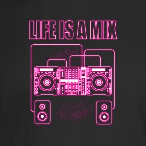 Life is a mix music - Men's Long Sleeve T-Shirt