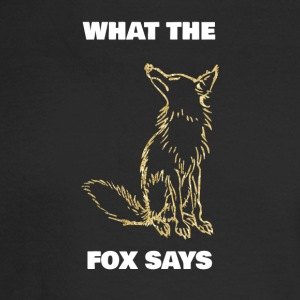What the fox says golden foxes - Men's Long Sleeve T-Shirt