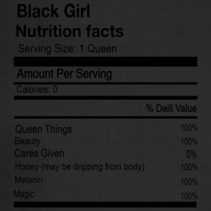 BLACK GIRL NUTRITION FACTS - Men's Long Sleeve T-Shirt