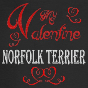 A romantic Valentine with my Norfolk Terrier - Men's Long Sleeve T-Shirt