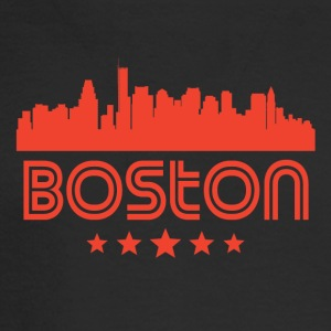 Retro Boston Skyline - Men's Long Sleeve T-Shirt