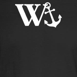 W Anchor Mens Funny Offensive - Men's Long Sleeve T-Shirt