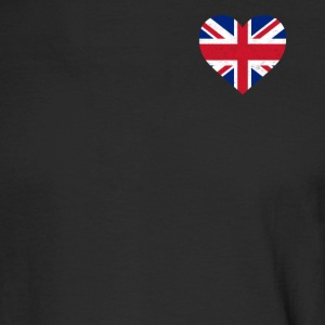 UK Flag Shirt Heart - Brittish Shirt - Men's Long Sleeve T-Shirt