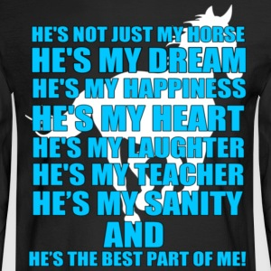 HORSE IS THE BEST PART OF ME - Men's Long Sleeve T-Shirt