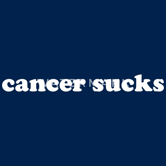 Cancer Sucks Funny Quote Men\'s Long Sleeve T-Shirt - light heather gray