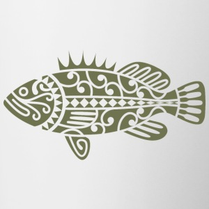 Fish Maori Olive Green - Contrast Coffee Mug