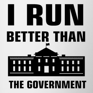 Run better than the Government - Contrast Coffee Mug