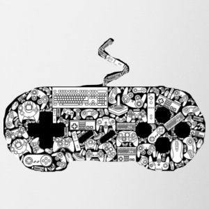 gamer controllers artwork - Contrast Coffee Mug
