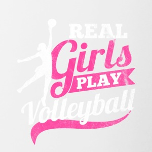 Real girls play Volleyball - Contrast Coffee Mug