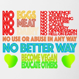 NO MEAT NO EGGS NO DAIRY - Contrast Coffee Mug