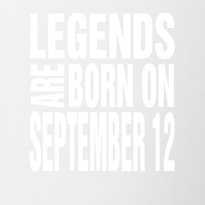 Legends are born on September 12 - Contrast Coffee Mug