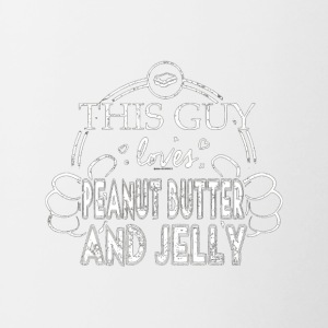Guy Loves Peanut Butter And Jelly Shirt PBnJ Shirt - Contrast Coffee Mug