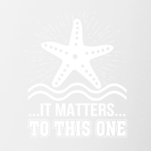 It Matters To One Inspirational Starfish - Contrast Coffee Mug