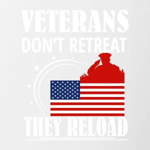 Veteran Dont Retreat They Reload Veteran - Contrast Coffee Mug