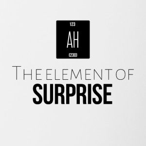 The element of surprise is AH - Contrast Coffee Mug