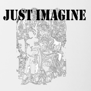 just imagine - Contrast Coffee Mug
