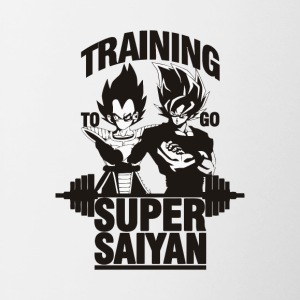 training to go super saiyan - Contrast Coffee Mug