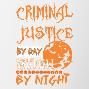 Criminal Justice By Day Witch By Night Halloween - Contrast Coffee Mug