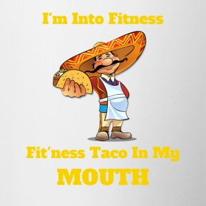 Taco Tee Fitness Taco In My Mouth - Contrast Coffee Mug