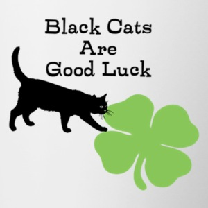 Black Cats are Good Luck - Contrast Coffee Mug