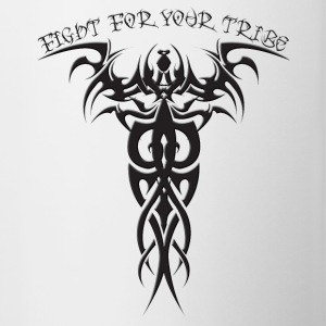 Fight For Your Tribe - Design on Back - Contrast Coffee Mug