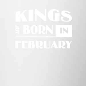 Kings are born in February - Contrast Coffee Mug