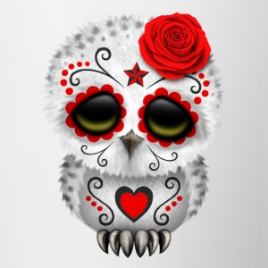 Red Sugar Skull Owl