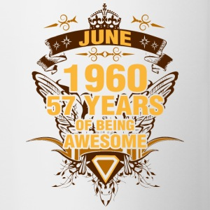 June 1960 57 Years of Being Awesome - Contrast Coffee Mug