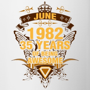June 1982 35 Years of Being Awesome - Contrast Coffee Mug