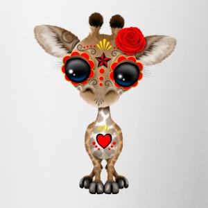 Red Sugar Skull Giraffe